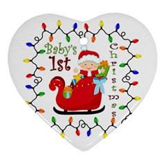 Baby s 1st Christmas Heart Ornament