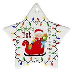 Baby s 1st Christmas Star Ornament