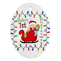Baby s 1st Christmas Oval Ornament (Two Sides)