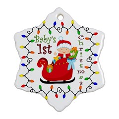 Baby s 1st Christmas Snowflake Ornament (two Sides)