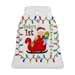 Baby s 1st Christmas Bell Ornament (Two Sides)