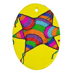 La Pinata Oval Ornament (two Sides)