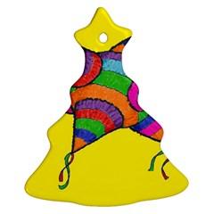 la piNata Christmas Tree Ornament (Two Sides)