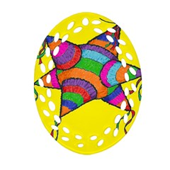 La Pinata Oval Filigree Ornament (two Sides)