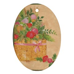 Oil Painting Oval Ornament