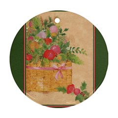 Oil Painting Round Ornament (two Sides)
