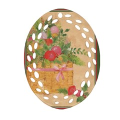 oil painting Oval Filigree Ornament (Two Sides)