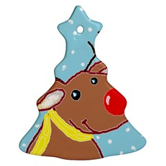 red nosey Christmas Tree Ornament (Two Sides)