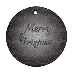 Metal Merry Christmas Round Ornament