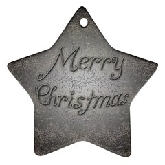 Metal Merry Christmas Star Ornament