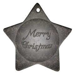 Metal Merry Christmas Star Ornament (two Sides)