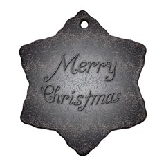 Metal Merry Christmas Snowflake Ornament (Two Sides)