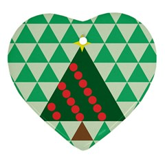 Holiday Triangles Heart Ornament