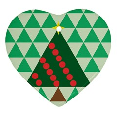 Holiday Triangles Heart Ornament (Two Sides)