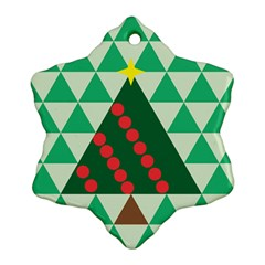 Holiday Triangles Snowflake Ornament