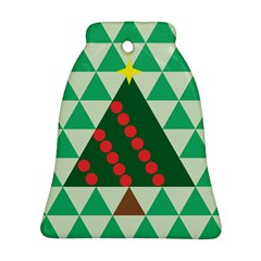Holiday Triangles Bell Ornament (Two Sides)