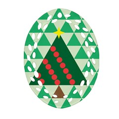 Holiday Triangles Ornament (oval Filigree)