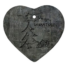 Concrete Christmas Heart Ornament