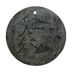 Concrete Christmas Round Ornament (two Sides)