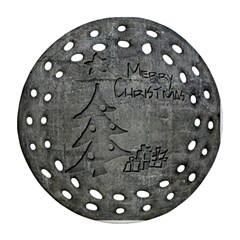Concrete Christmas Round Filigree Ornament (Two Sides)
