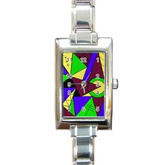 Modern Rectangular Italian Charm Watch