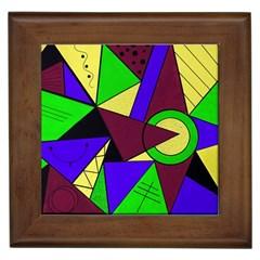 Modern Framed Ceramic Tile