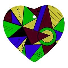 Modern Heart Ornament