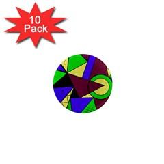 Modern 1  Mini Button Magnet (10 Pack)