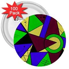 Modern 3  Button (100 pack)