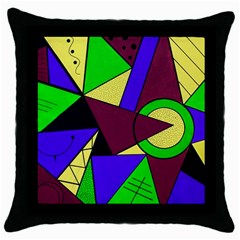Modern Black Throw Pillow Case