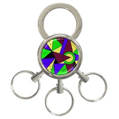 Modern 3-Ring Key Chain