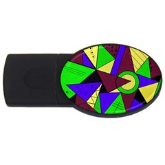 Modern 2gb Usb Flash Drive (oval)