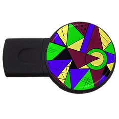 Modern 4gb Usb Flash Drive (round)
