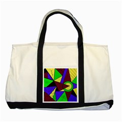 Modern Two Toned Tote Bag