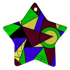 Modern Star Ornament (two Sides)