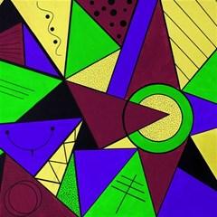 Modern Canvas 16  X 16  (unframed)