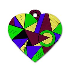 Modern Dog Tag Heart (Two Sided)
