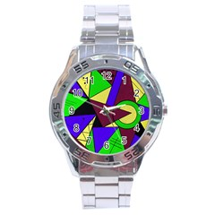 Modern Stainless Steel Watch (Men s)