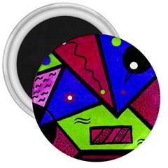 Modern Art 3  Button Magnet
