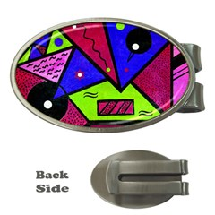 Modern Art Money Clip (oval)