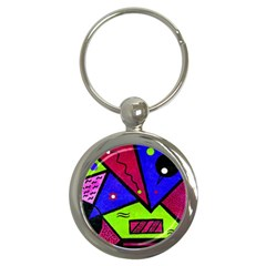 Modern Art Key Chain (round)