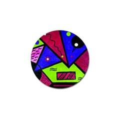Modern Art Golf Ball Marker
