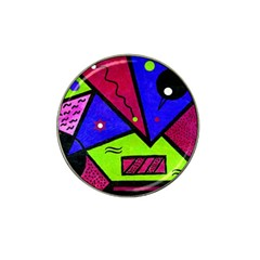 Modern Art Golf Ball Marker 4 Pack (for Hat Clip)