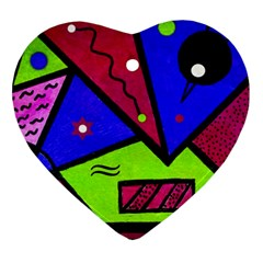 Modern Art Heart Ornament (Two Sides)