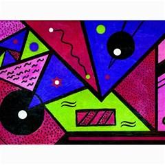 Modern Art Canvas 12  X 16  (unframed)