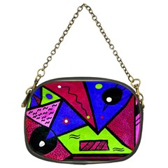 Modern Art Chain Purse (two Sided)