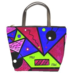 Modern Art Bucket Bag