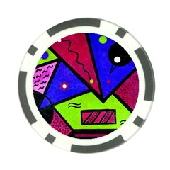Modern Art Poker Chip 10 Pack