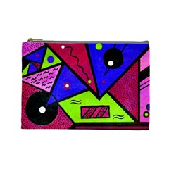 Modern Art Cosmetic Bag (Large)