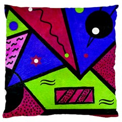 Modern Art Large Cushion Case (Single Sided)